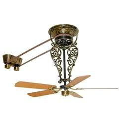 antique ceiling fans bring the industrial flavor to the