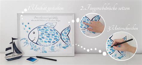 selbstgebastelte geschenke zur taufe geschenk zur taufe fisch und taube fingerabdruckbaum wedding tree