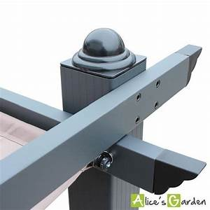 Abri De Terrasse Retractable : tente de jardin pergola aluminium 3x4m condate taupe ~ Dailycaller-alerts.com Idées de Décoration