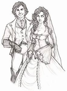 Prettiest Wedding Couple B/W by bunnystick on DeviantArt