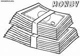 Money Coloring Pages Sheet Print Bill sketch template
