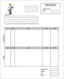 Contractor Invoice Template Excel Sle Contractor Invoice Templates 14 Free Documents In Word Pdf Excel