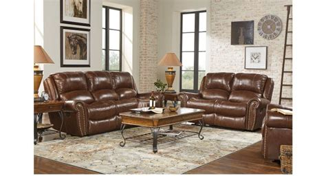 3 Pc Living Room Sofa Sets by 2 349 99 Abruzzo Brown 3 Pc Reclining Leather Living