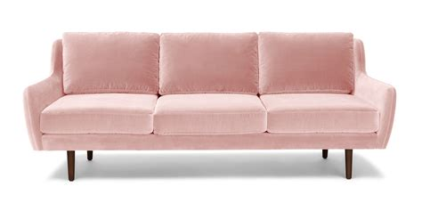 pink loveseats matrix blush pink sofa sofas article modern mid