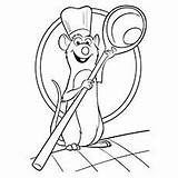 Coloring Ratatouille Pages Remy Cartoon Momjunction sketch template