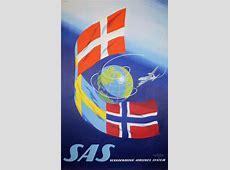Original vintage poster SAS Scandinavian Airlines
