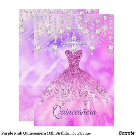 quinceanera purple pink dress  birthday party
