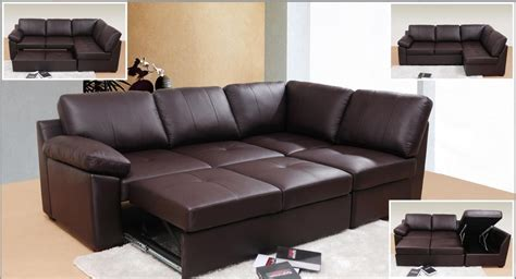 cheap living room looking and stylish with leather sofa bed