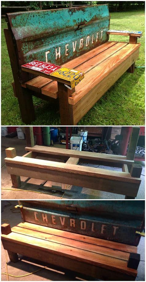 diy patio bench    car tailgate  gardens