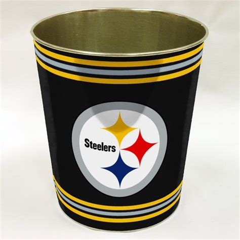 pittsburgh steelers bathroom decor nfl pittsburgh steelers wastebasket keenan