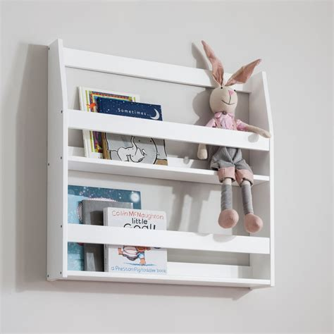 Display Shelf Bookcase Wall Mounted  White Accessories