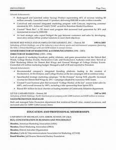 Entry Level Communications Resume Corporate Marketing Executive Resume
