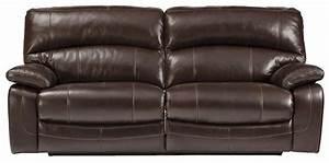 leather dual reclining sofa homelegance cranley double With leather reclining sofa