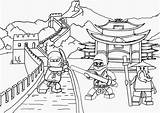 Temple Drawing Chinese Coloring Pages Printable Getdrawings sketch template