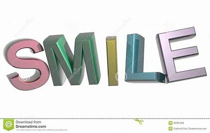 Smile Word Colorful