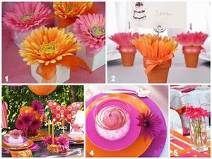 Gerbera Daisy Party Inspiration - Oh My Creative