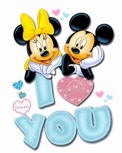 MICKEY MOUSE AND MINNIE MOUSE I LOVE YOU GIF | Mickey N ...