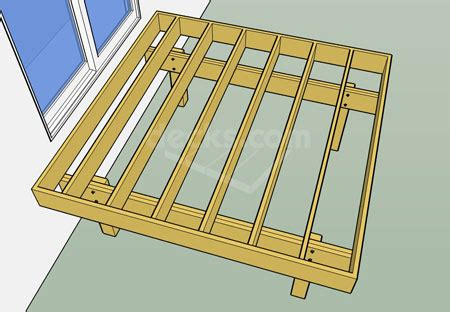 Floor Joist Span Table Deck by Decks Com Framing Parallel To The House