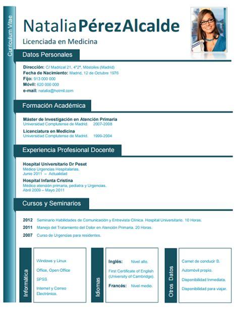 modelo de curriculum vitae medico argentina modelo de