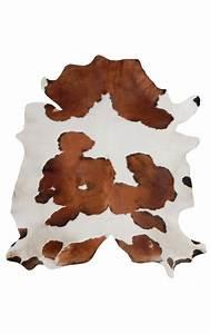 tapis en vrai peau de vache marron et blanc With tapis peau de vache avec canapé polyester