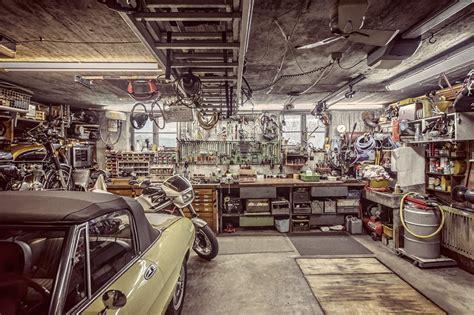 retro home interiors werkstatt garage fuxpix