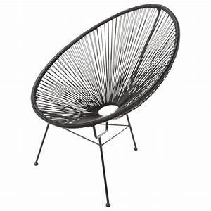 Fauteuil Maison Du Monde : fauteuil de jardin rond noir copacabana maisons du monde ~ Teatrodelosmanantiales.com Idées de Décoration