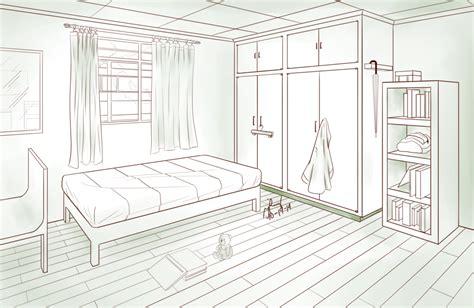 bedroom  point perspective  pixelizedfate  deviantart