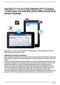 Tablet 8 Zoll Test 2017 : odys neo x 7 17 8 cm 7 zoll tablet pc tft touchpanel 1 ~ Jslefanu.com Haus und Dekorationen