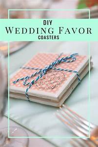 31 brilliantly creative wedding favors you can make for With diy coasters wedding favors