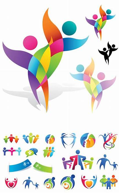 Vector Abstract Logos Human Logotypes Graphics Templates