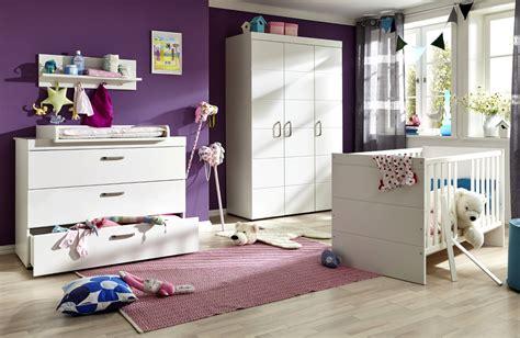babybett komplett mit wickelkommode babyzimmer komplett set luca s in matt wei 223 3 teilig