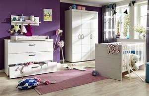 Babybett Komplett Mit Wickelkommode : babyzimmer komplett set luca s in matt wei 3 teilig ~ Watch28wear.com Haus und Dekorationen