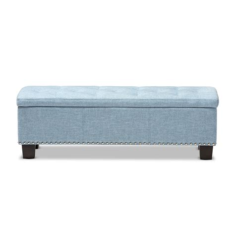 fabric storage ottoman bench baxton studio hannah modern and contemporary light blue