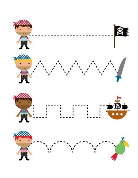 pirate worksheets trace the lines twoyearolds pirate 290 | 15be588642863447329a99a70972979e