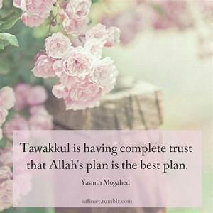 Quote by Yasmin... Allah Tawakkul Quotes