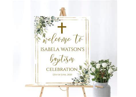 Baptism Welcome Sign Template Gender Neutral Editable