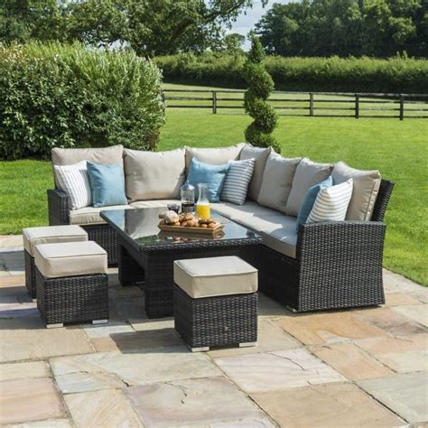 Maze Rattan Corner Sofa Set by Maze Rattan Kingston Corner Sofa Dining Set With Rising Table