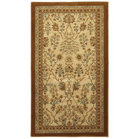 allen roth rugs shop allen roth empire park rectangular cream transitional woven accent rug common 2 ft x 4