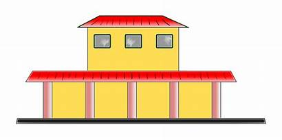 Train Station Clipart Depot Bus Clip Cliparts