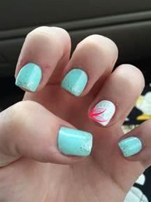 Cute summer acrylic nails acrylics and flower