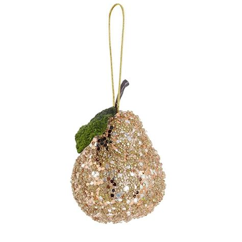 gold pear decoration from debenhams traditional