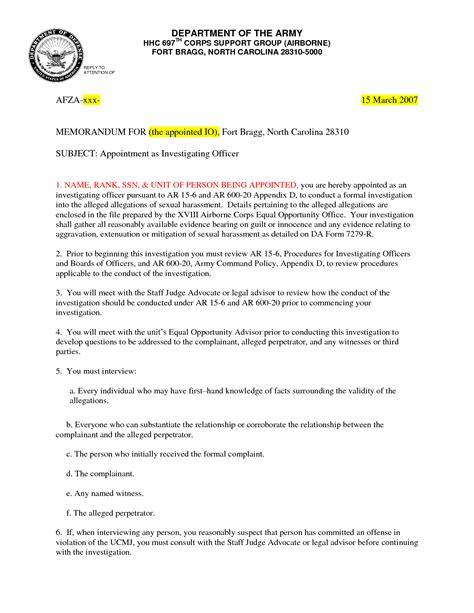 Army Memorandum Template Army Memorandum Template