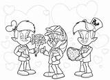 Rice Krispies Coloring Snap Pop Crackle Characters Valentines Pages Template sketch template