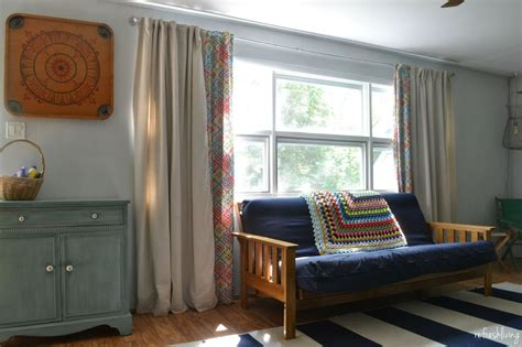Drapes For Large Windows - diy lined drop cloth curtains modified for large windows