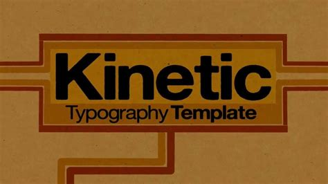 after effects template kinetic typography 1 0 youtube
