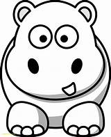 Coloring Pages Hippo Hippos Getdrawings sketch template