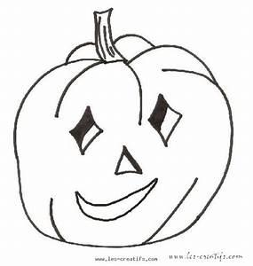 Citrouille D Halloween Dessin : coloriage de citrouille souriante d 39 halloween ~ Nature-et-papiers.com Idées de Décoration