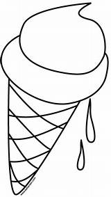 Ice Cream Cone Coloring Pages Supercoloring Melting sketch template