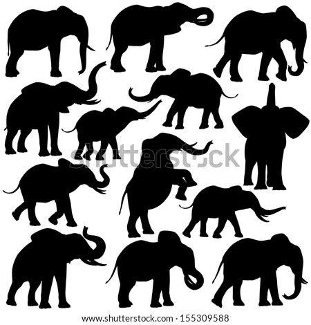 vector elephants family  nature walk freevectors