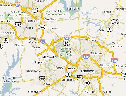 raleigh map toursmapscom